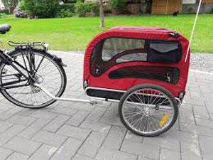 Rimorchio bici per cani