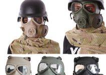maschera antigas da guerra tattica simulata