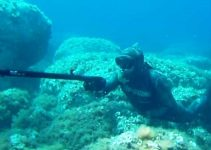Fucile subacqueo ad'aria compressa