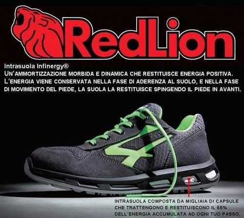 Scarpe antinfortunistiche U Power Red Lion
