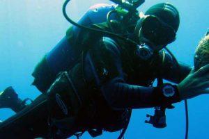 Muta subacquea invernale