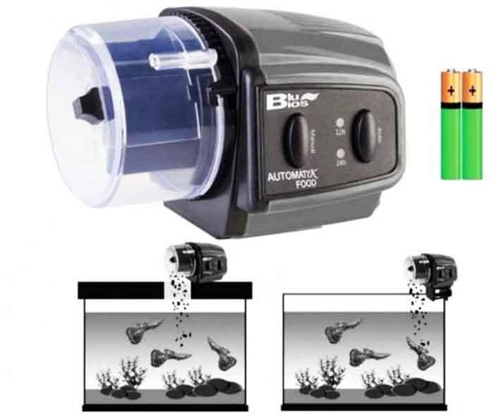 Dispenser automatico per acquario