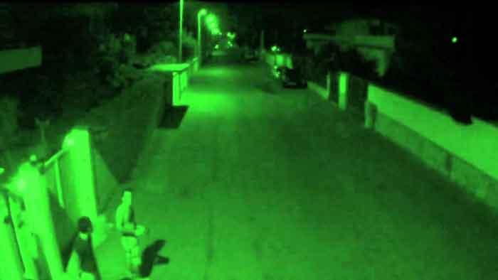 Visione notturna della telecamera a infrarossi