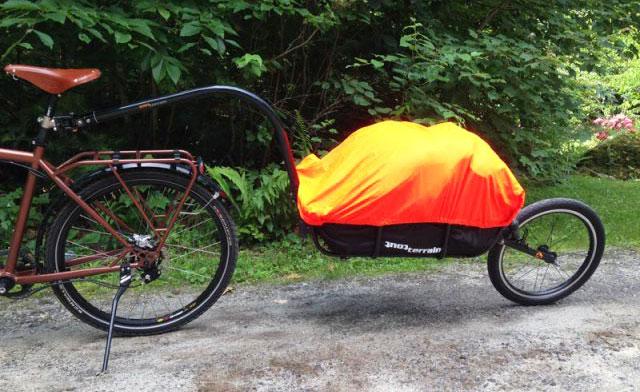 Carrello per bici per la spesa