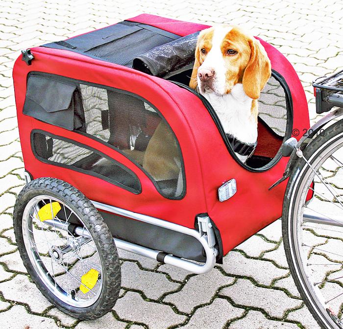 Rimorchio per il trasporto del cane in bici