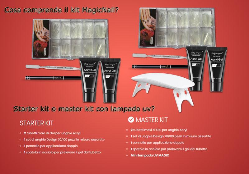 Kit ricostruzione unghie Magic Nail