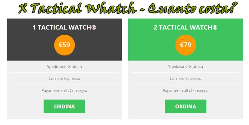Prezzo dell'orologio militare tattico X Tactical Watch