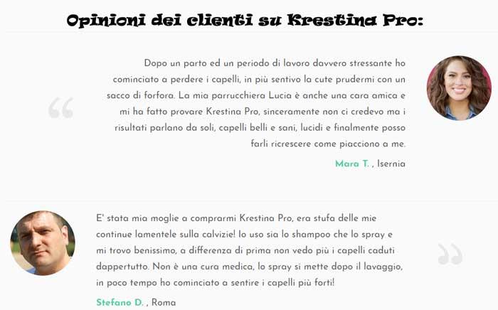 Krestina Pro opinioni dei clienti