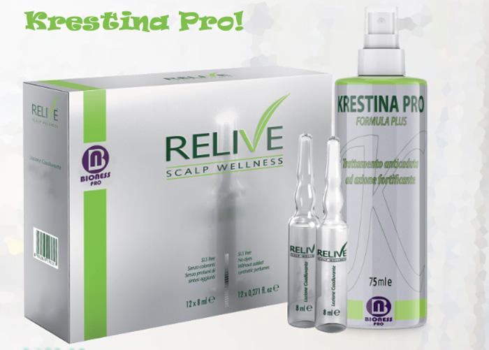 Lozione spray anticaduta per capelli Krestina Pro