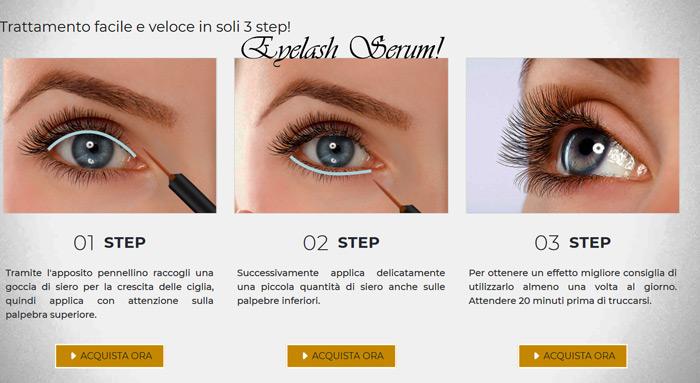 Eyelash Serum modalita di applicazione
