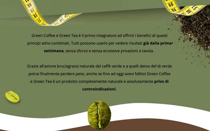 Integratore dimagrante Green Coffee e Green Tea Plus