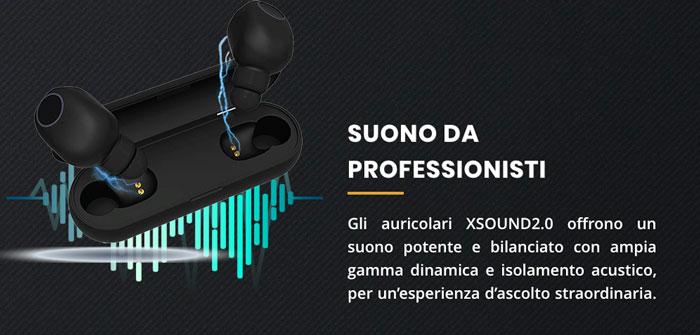 Qualità audio delle cuffie X Sound 2.0