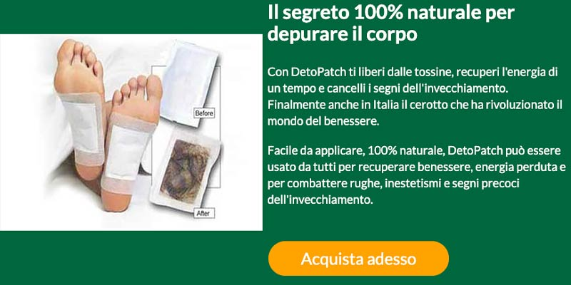 Come agiscono i cerotti Detopatch