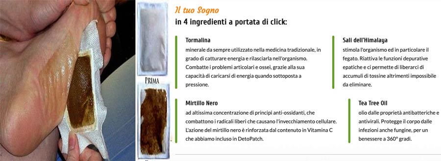 Ingredienti dei cerotti Detopatch