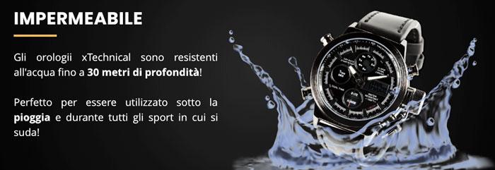 Orologio impermeabile X Technical Watch