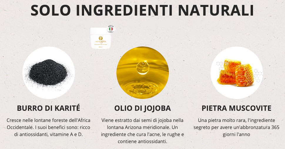 Ingredienti di Insta Bronze