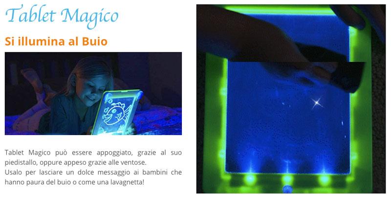 Come funziona il Tablet Magico