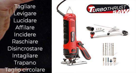 Tipi di lavori effettuabili con turbothrust saw