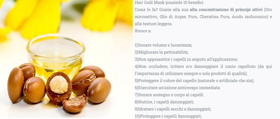 Ingredienti di Hair Gold Mask
