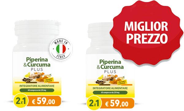 Prezzo di Piperina e Curcuma Plus
