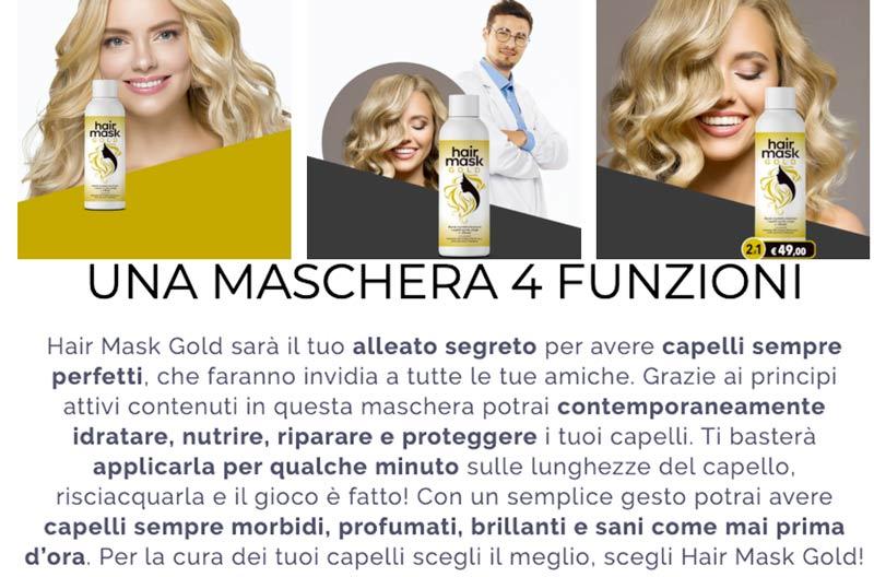 Caratteristiche di Hair Mask Gold