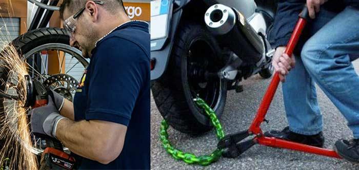 Gaoominy Lucchetto a Catena Resistente Moto del motorino Motociclo Bici Bicicletta