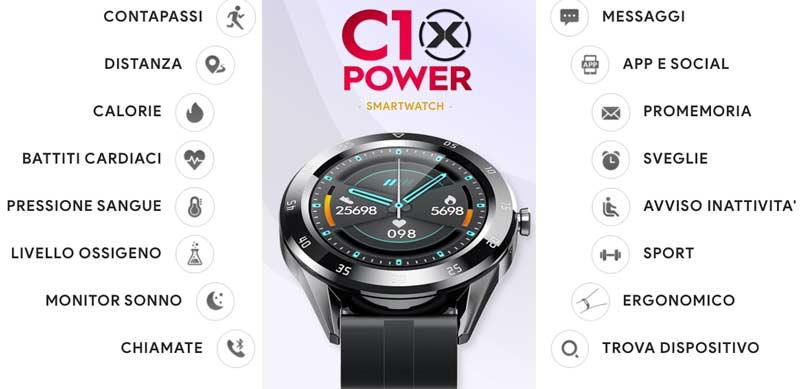 Funzioni di C10 Xpower