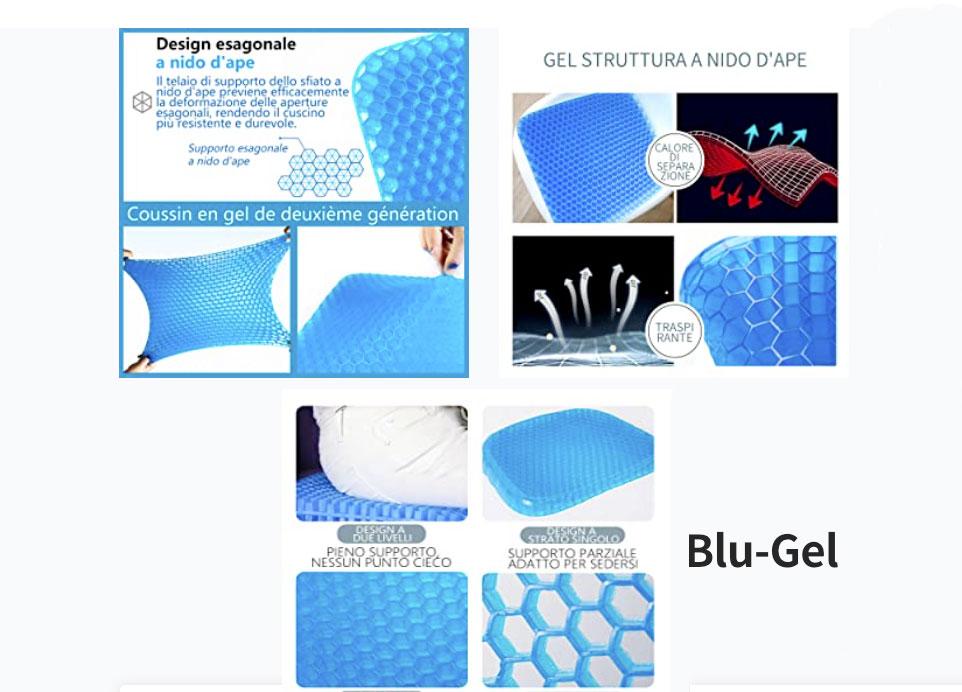 Caratteristiche tecniche del cuscino Blu Gel