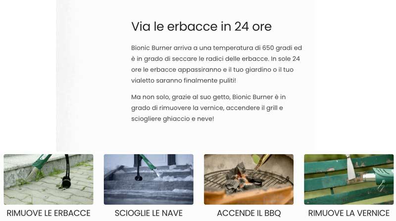 Bionic Burner caratteristiche