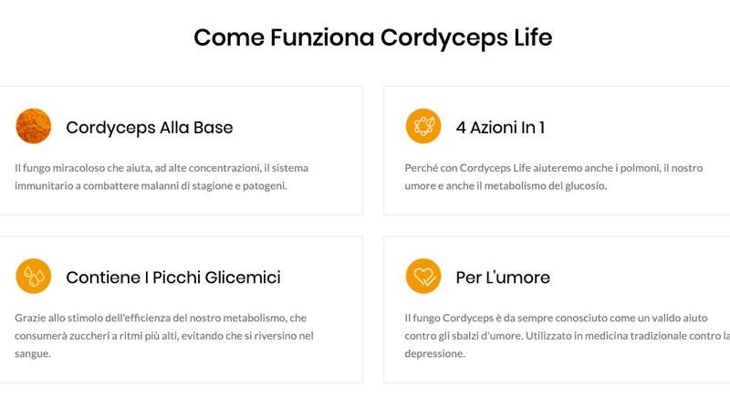Ingredienti di Cordyceps Life