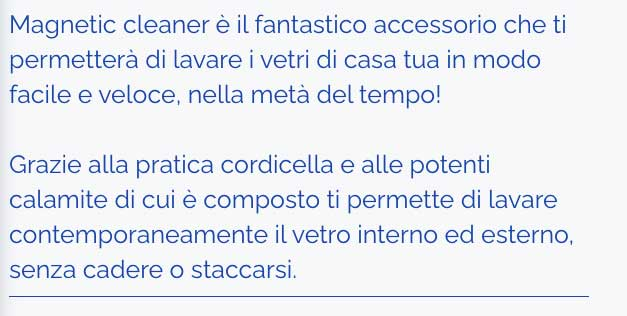 come funziona Magnetic Cleaner