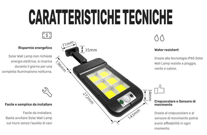 Caratteristiche di Solar Wall Lamp